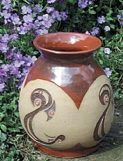 Vase / Pot with repeated motif